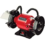 General International 6-Inch 2 Amp Bench Grinder with Twin Led Work Lights