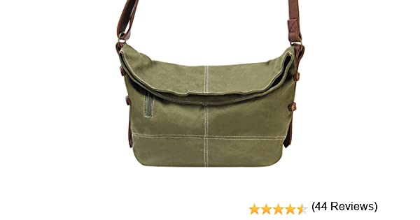 e537adcb7d Hynes Eagle Casual Canvas Crossbody Messenger Purse Bag for Women Girls  Satchel Hobo Handbags Army Green  Amazon.ca  Luggage   Bags