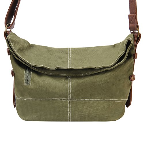 Hynes Eagle Casual Canvas Crossbody Bags for Women or Teen Girls Army Green