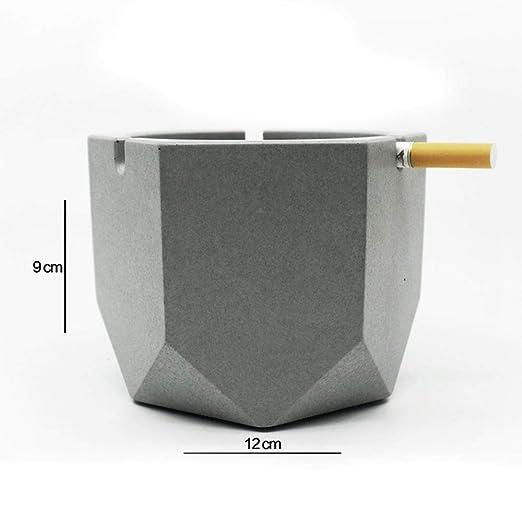 YZPYHG Cenicero de Mesa de Cemento, cenicero de Cigarrillos para ...