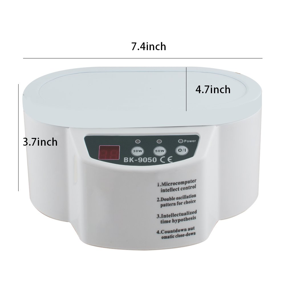 30W/50W Mini Ultrasonic Cleaner for Jewelry Glasses Circuit Board Watch CD Lens by Carejoy (Image #6)