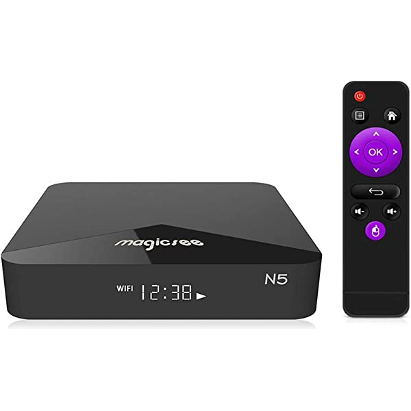 MAGICSEE N5 4K TV Set Top Box Android 7.1 Amlogic 2G+16G Dual WiFi BT 4.1 H.265