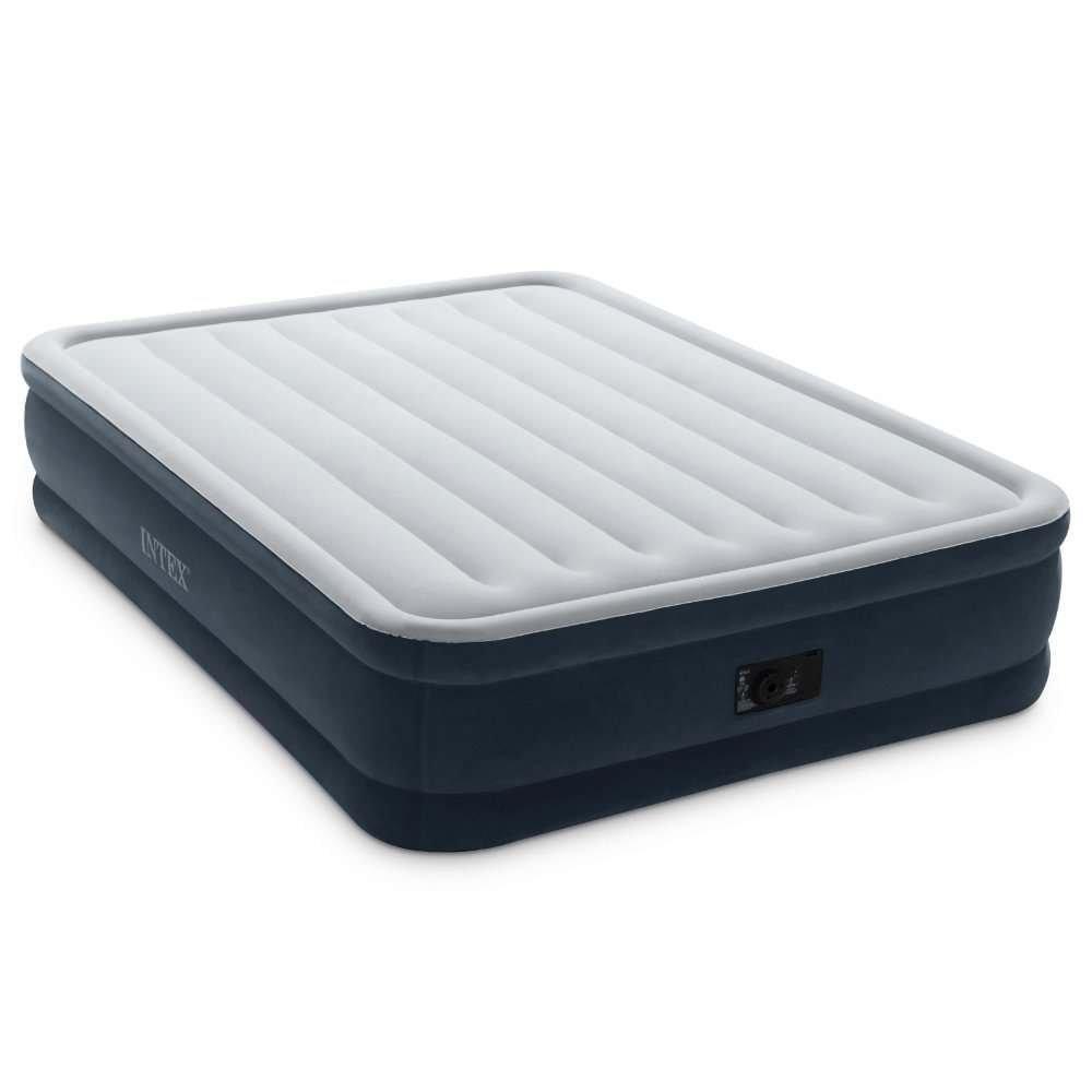 Intex Dura-Beam Series Elevated Comfort Airbed with Built-In Electric Pump jExNBP, Queen, Dark Green, 4 Pack