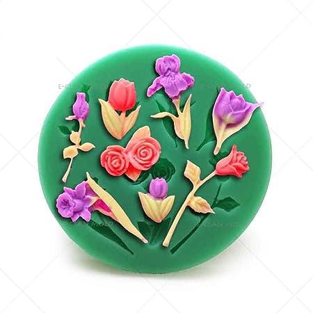 Molde para chocolate, diseño de rosas, para decoración de tartas, para el Día de la Madre, herramientas para hornear pasteles F0100HM35: Amazon.es: Hogar