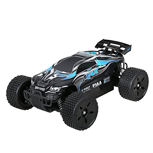 Holy Stone HS007 Remote Control Car High Speed Off-Road RC Racing Truck 1/16 2.4G 4WD RTR Includes Bonus Battery, Color Blue
