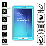 Galaxy Tab E T560 Case, Perfect-Fit Magnetic Case, Smart Cover with Stand [Build-in HD screen protector] Full Body Protective Case for Samsung Galaxy Tab E T560 9.6 inches [SM-T560] (Light-Blue)