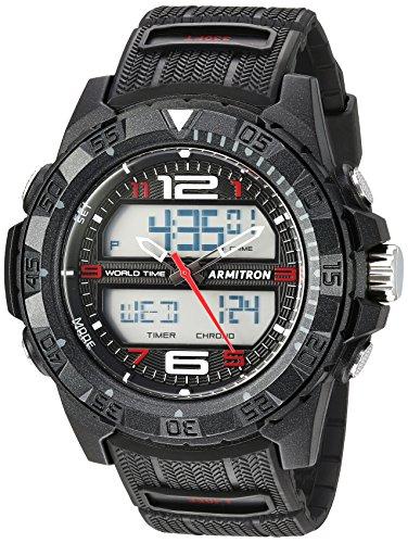 Armitron Sport Men's 20/5226BRD Analog-Digital Chronograph Black Resin Strap Watch