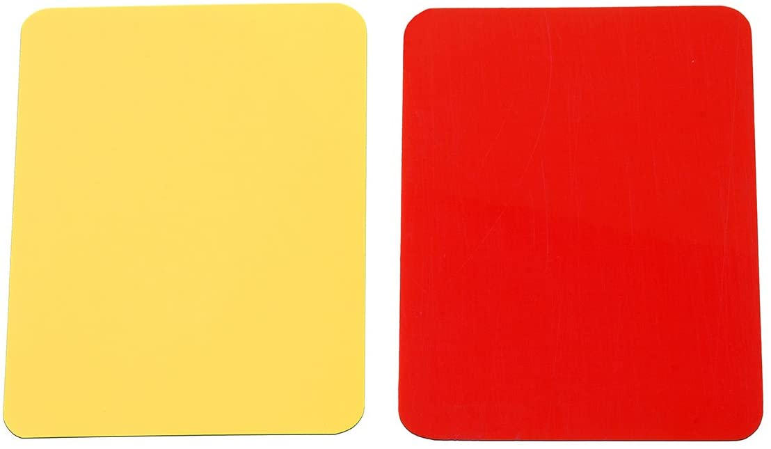 Soccer Champion Yellow And Red Card Referee Warning Card Football Match Re NEW