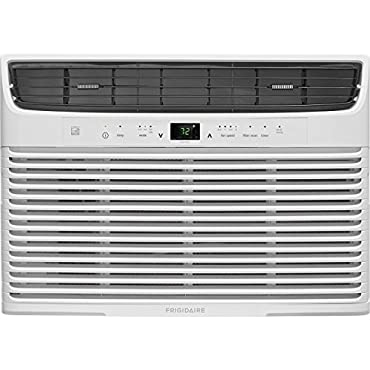 Frigidaire 10,000 Btu 115V Window-Mounted Compact Air Conditioner with Temperature Sensing Remote Control, White