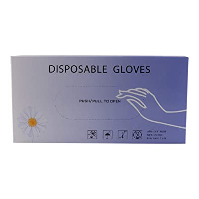 Hurrybuy Nitrile Disposable Gloves 50 pcs Latex Rubber Free Gloves Food Grade Gloves Cleaning Safety Work Transparent: Clothing