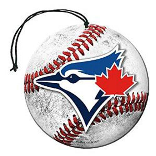 [해외]면허 MLB 토론토 블루 제이 뉴카 향기 야구 모양 W 로고 공기 청정기 3 팩 세트 팀 로고 w 선물 박스/Licensed MLB Toronto Blue Jays Nu-Car Scent Baseball Shape W