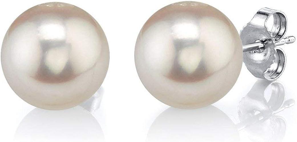 1Paar Edelstahl Ohrstecker mit Perle 1cm Perlweiss Silber