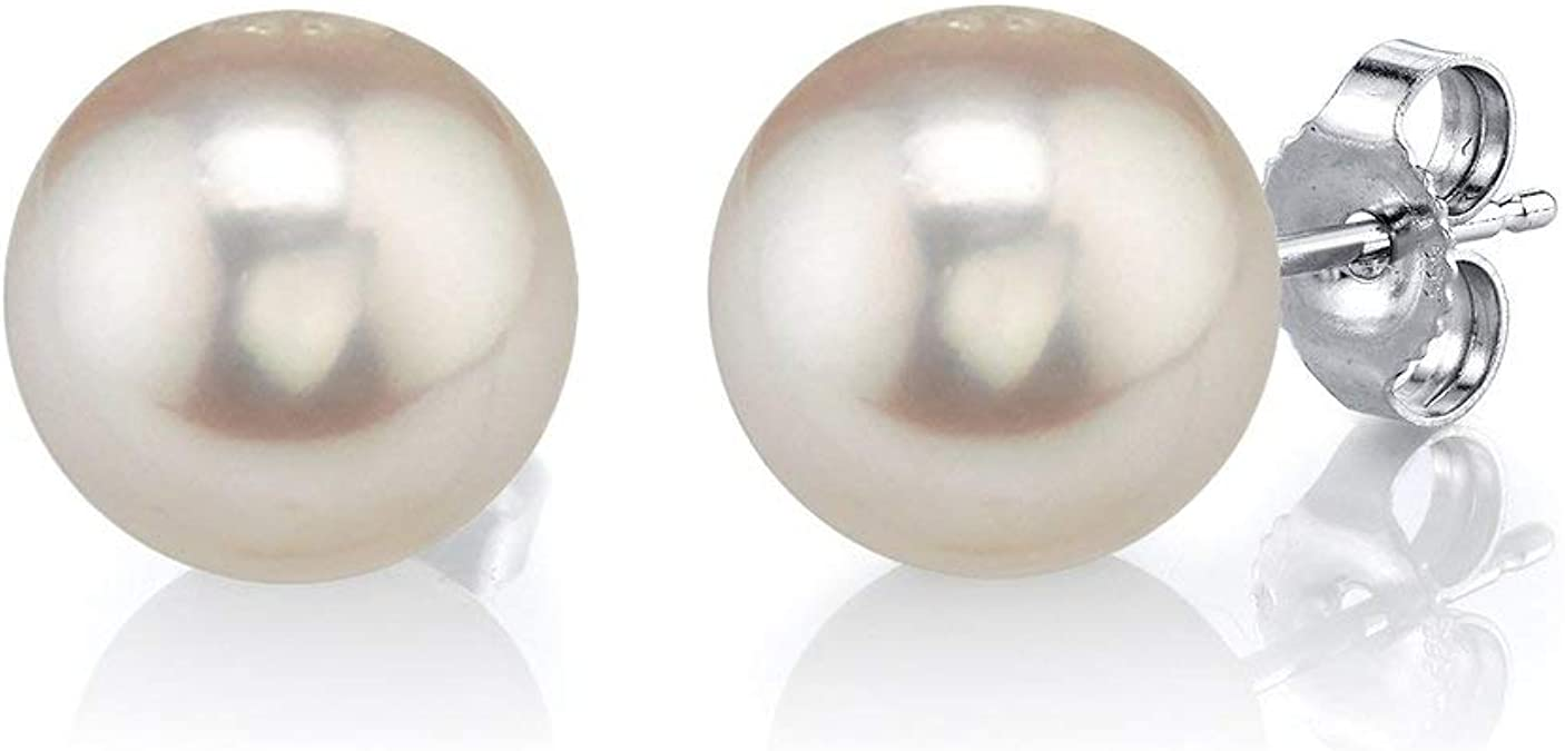 10,00 mm Gold 750 Zucht Süßwasser Perlen Schmuck Ohrringe Ohrstecker Ohrschmuck