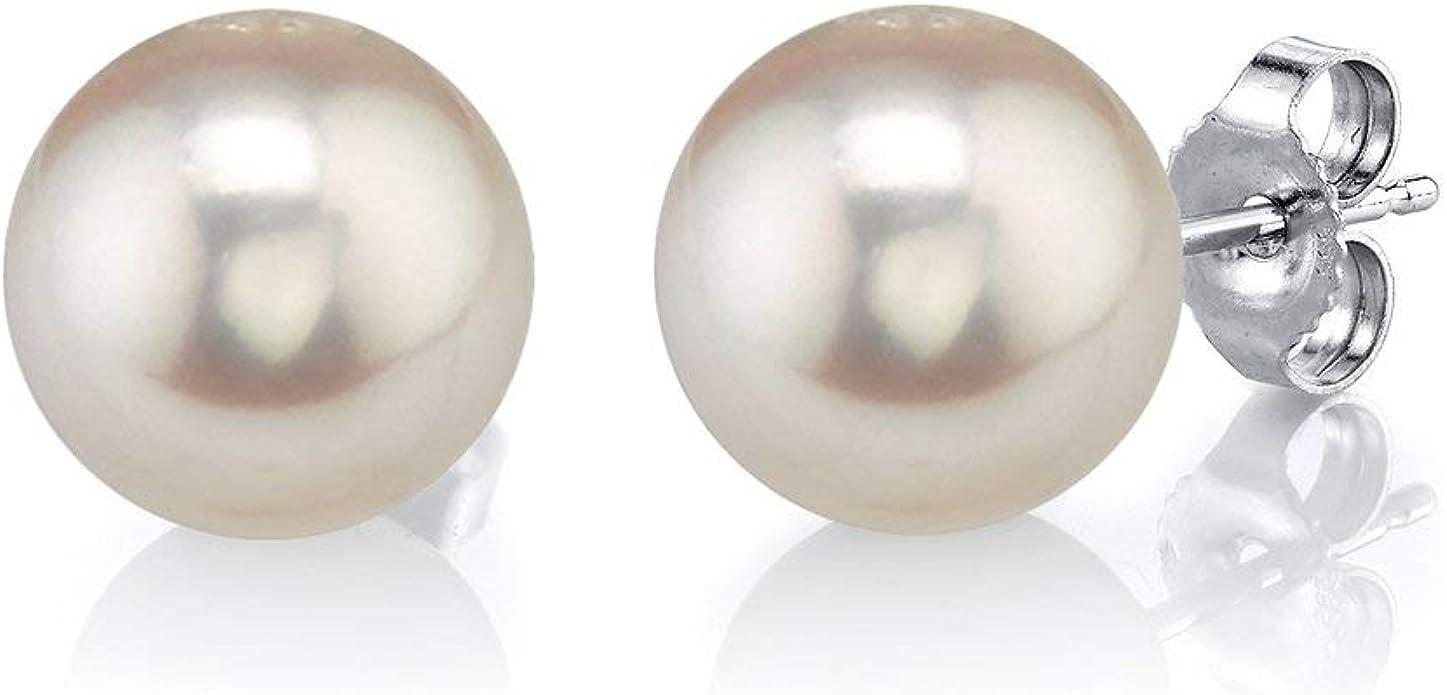 Draht Eingewickelte echte 10-11mm weiß Süßwasser Perle Ohrstecker