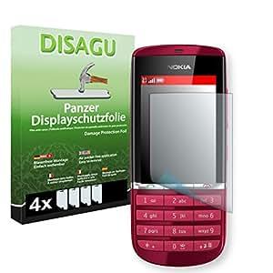 4 x DISAGU Lámina blindada para pantallas Nokia Asha 300 contra roturas