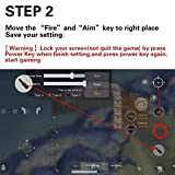 PUBG Mobile Game Controller for Fortnite / Knives Out / Rules of Survival Battle Royale L1R1 Sensitive Shoot and Aim Trigger Ergonomic Design Handle Holder Stand for 4.5-6.5inch Android iOS Phones