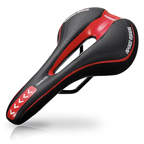 OUTERDO Bike Saddle Mountain Bike Seat Breathable Comfortable Bicycle Seat with Central Relief Zone and Ergonomics Design Fit for Road Bike and Mountain (The Mountain Mountain Saddle)