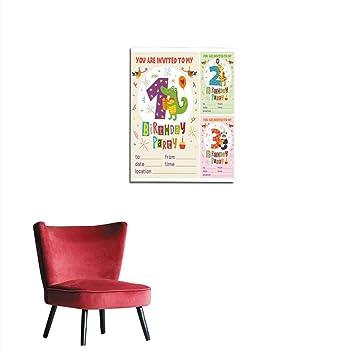 Amazon Com Longbuyer Wallpaper Happy Birthday Invitation