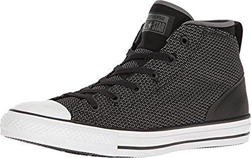 Converse Mens Chuck Taylor All Star Syde Street Mid-Top Sneaker - Black/Grey (10 D(M) US, Thunder/Black/White)