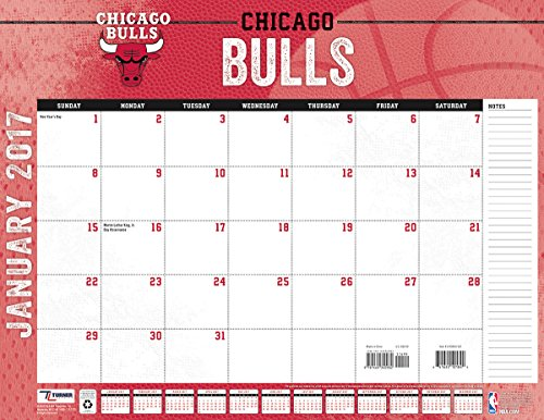 "Turner Licensing Sport 2017 Chicago Bulls Desk Pad Calendar, 22""X17"" (17998061522)"