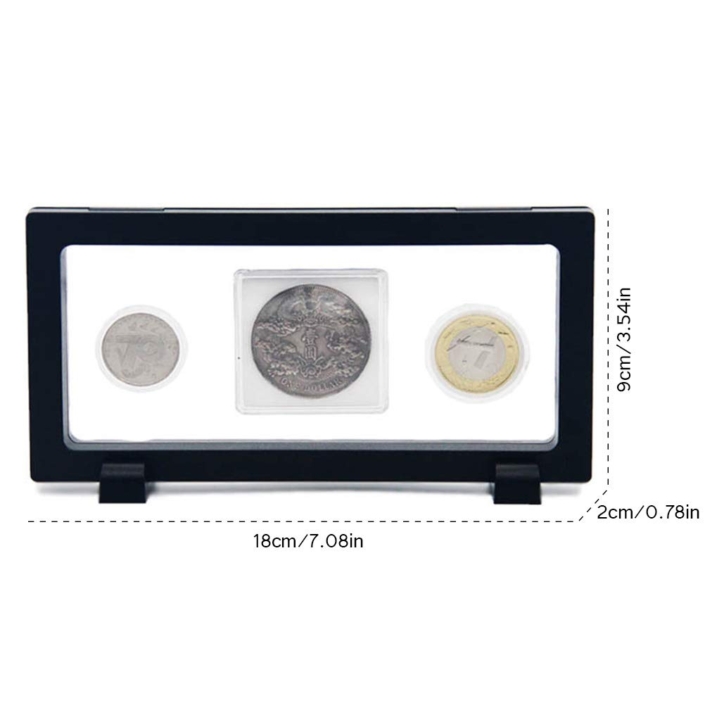 WINBST Marco de Objetos 3D Porta Monedas Montura deslizable Marco de Monedas para Sus Monedas Trofeo//decoraci/ón//Almacenamiento de Monedas medallas Sellos