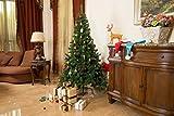 GOJOOASIS 6 Artificial Christmas Tree Premium Spruce Hinged with Metal Stand Eco-Friendly Xmas Pine Tree Green