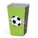 Big Dot of Happiness GOAAAL! - Soccer - Baby Shower or Birthday Party Favor Popcorn Treat Boxes - Set of 12
