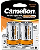Camelion - Lot de 2 Accus Rechargeable NiMh Mono D 10000 mAh 1,2V