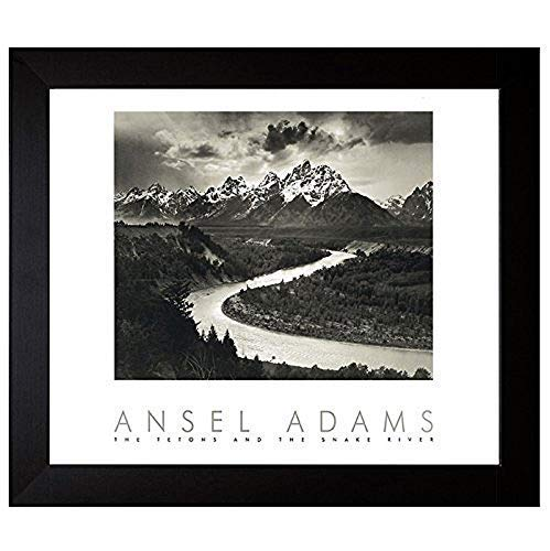 Bruce Teleky Snake River and The Tetons by Ansel Adams 34x28 Gallery Quality Framed Art Print Nature Photography from Bruce Teleky