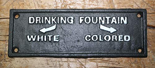 - Cast Iron Colored Drinking Fountain Black Americana Court House Plaque