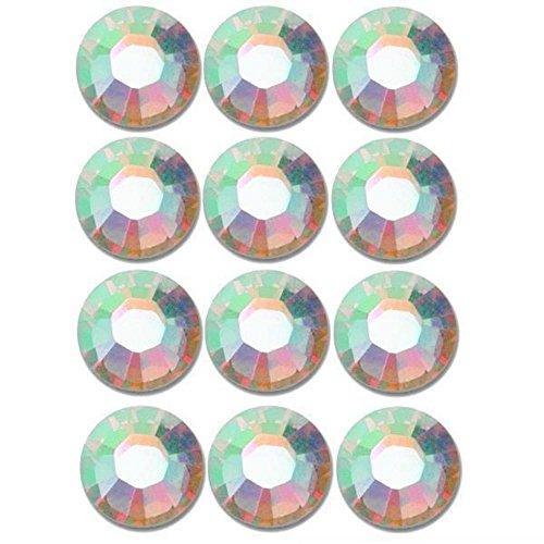 [12 Crystal AB Flatback Made With Swarovski Rhinestones 2028 SS40] (2028 Costume Jewelry)