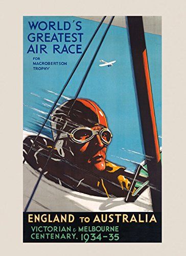 worlds-greatest-air-airplane-plane-race-england-to-australia-1934-victorian-melbourne-vintage-poster