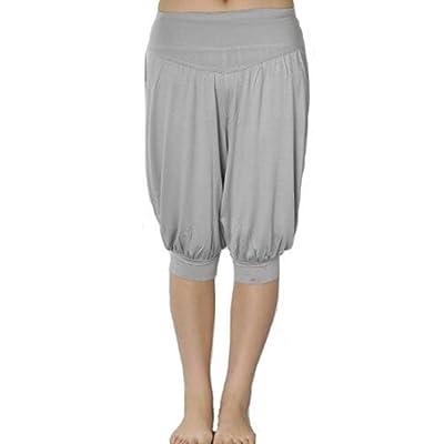 2SUN Womens Modal Cotton Soft Yoga Sports Dance Fitness Harem Pants