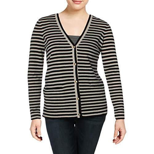 LAUREN RALPH LAUREN Anneka Women's Cashmere Cardigan Sweater Black Size XXS