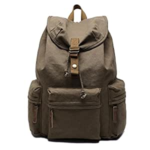 Generic Multifunction Canvas Backpack Shoulders Bag Cameras Bags Outdoor Sports Bag with Interior Lining & Rain Cover, Size: 50x37x15cm(Army Green)