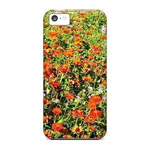 5c Scratch-proof Protection Case Cover For Iphone/ Hot Flower Field Phone Case
