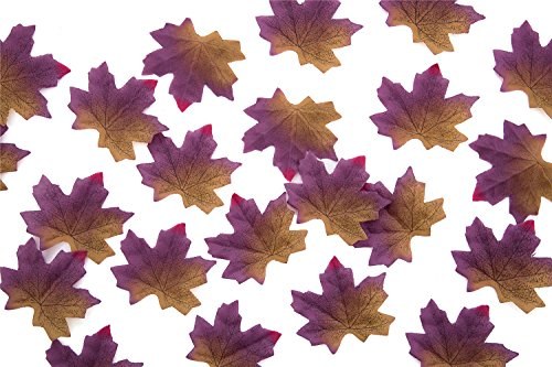(Vivianbuy 500 PCS Artifical Maple Leaves Fall Colored Artifical Silk Leaves for Chistmas Party, Art Scrapbooking, Wweddings, Autumn Party, Events and Decorating)