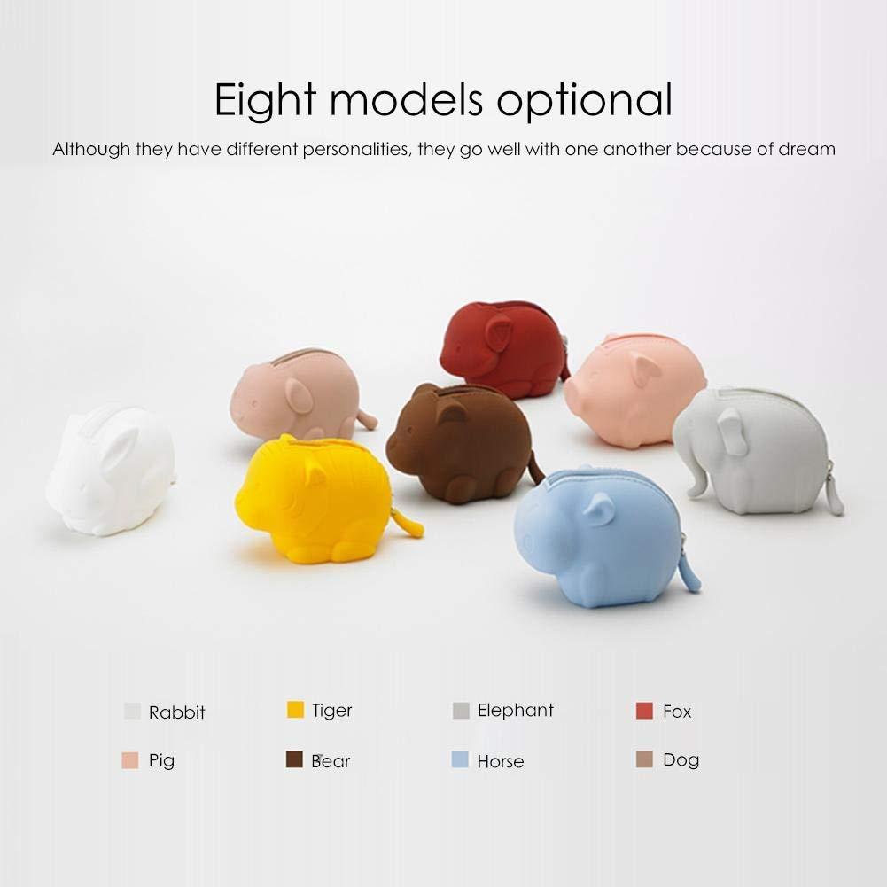 Monedero de silicona con forma de animal, bolsa de ...