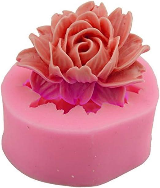 Pink Leaf Flowers Silicone Fondant Mold Sugarcraft Chocolate Mould Cake Decor S
