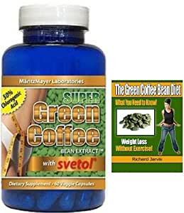 Green Coffee Bean Extract with SVETOL® 50% Chlorogenic Acid | Premium Formula - With FREE 40 page Ebook worth $7.99