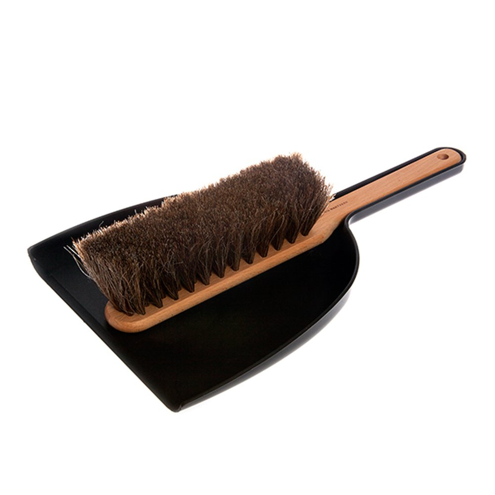 Iris Hantverk Dustpan & Brush Set, Handmade, Black