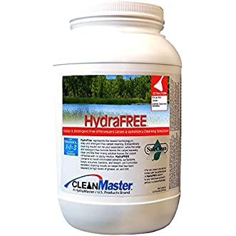 HydraFREE - Soap and Detergent Free Effervescent Carpet and Upholstery Cleaning Solution, 6.5 lb. (Pack of 4) - CleanMaster 950-102-B