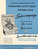 1948 International Truck Rebuilt Clutch Brochure