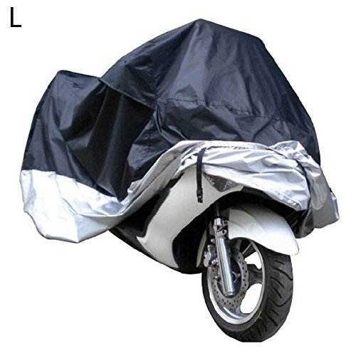 Docooler Motorcycle Bike Moped Scooter Cover Waterproof Rain UV Dust Prevention Dustproof Covering (L) (Moped Cover)