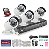 ANNKE 8CH 1080P POE Security Camera System with 4x 1080P Day/Night Vision Cameras 1TB HDD Compatible with Hikvison IP Camera -- No1 Manufacturer of Video Surveillance Worldwide