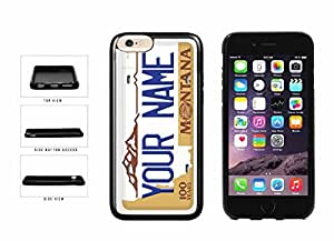 Personalized Custom Montana License Plate TPU RUBBER SILICONE Phone Case Back Cover iPhone 6 Plus (5.5 inches)