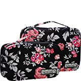 EMME Combination Cosmetic and Toiletries Travel Bags (Black/Pink)