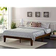 Zinus 12 Inch Wood Platform Bed / No Boxspring Needed / Wood Slat Support / Antique Espresso Finish, Twin