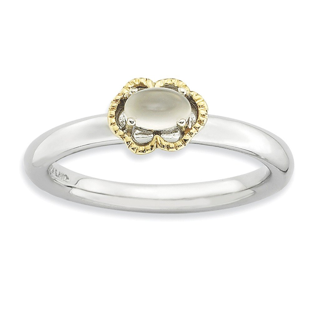 Top 10 Jewelry Gift Sterling Silver & 14k Stackable Expressions Moonstone Polished Ring