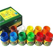 iMustech Washable Finger Paints Kid's Paint Art Supplies (12 Colors x 1.02 FI.oz)